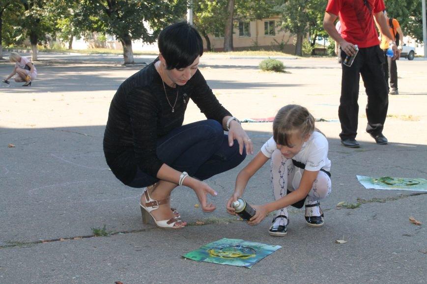 Молодежь разукрасила улицы Артемовска, фото-17