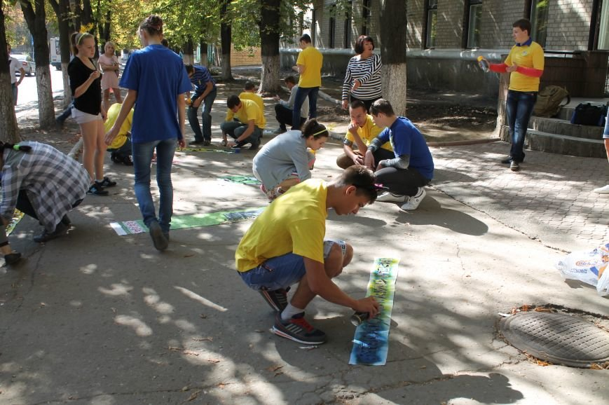 Молодежь разукрасила улицы Артемовска, фото-4