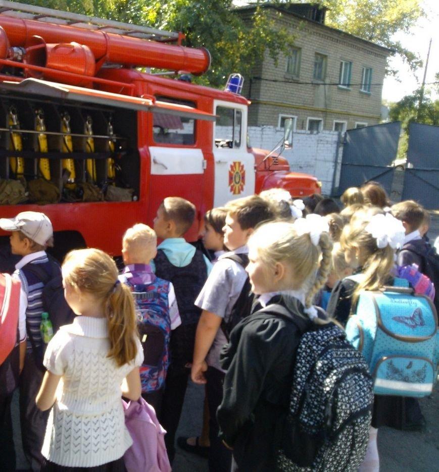 Терновские школьники примерили боевую одежду пожарного (фото) - фото 1