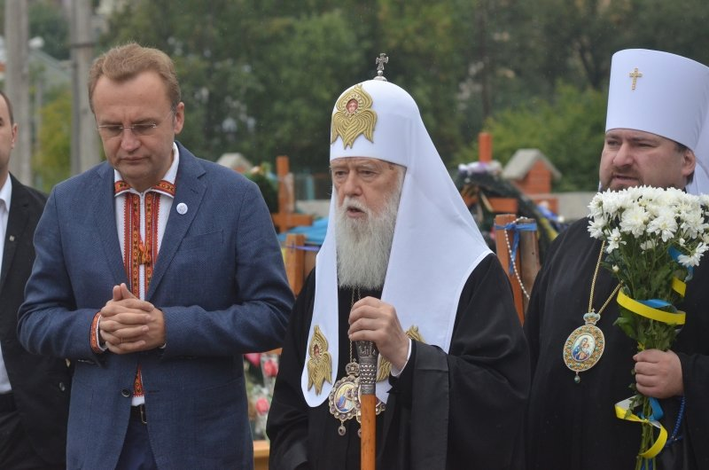Патріарх Філарет помолився на Личаківському кладовищі за Новітніх Героїв України (фото) - фото 3