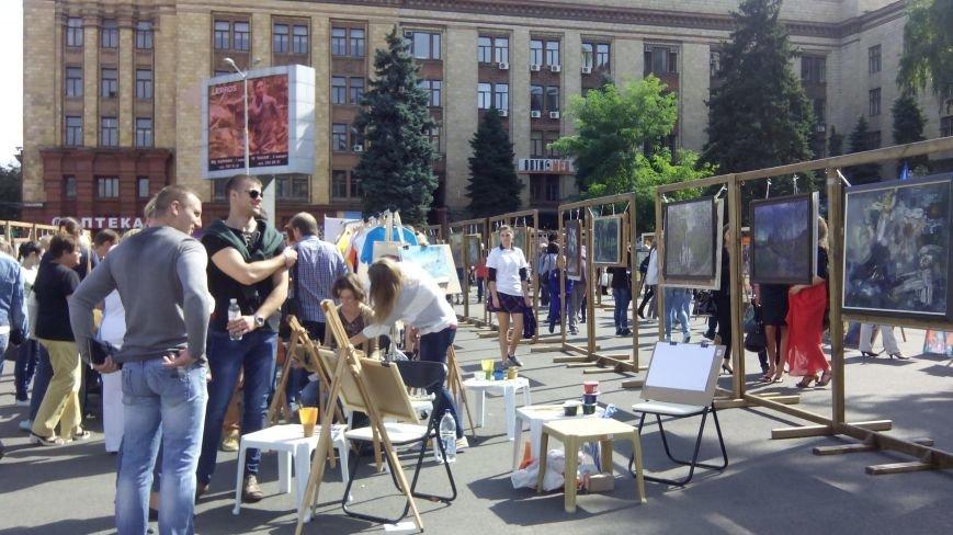 На День города днепропетровцы нарисовали самую большую картину в Украине (ФОТО), фото-4