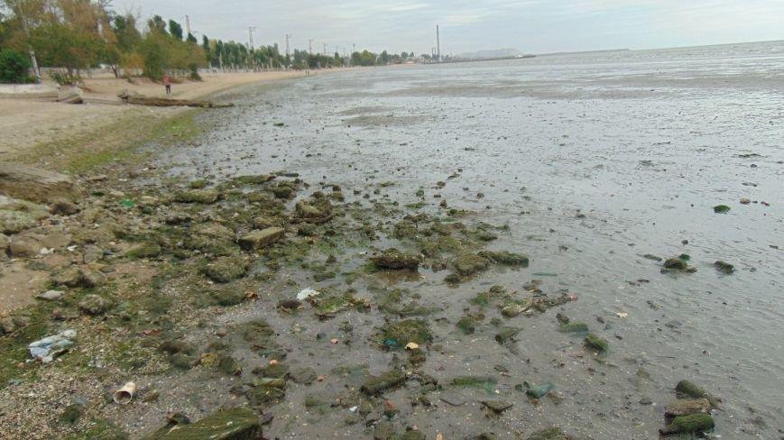 На побережье Мариуполя грандиозный отлив (ФОТОФАКТ) (фото) - фото 1