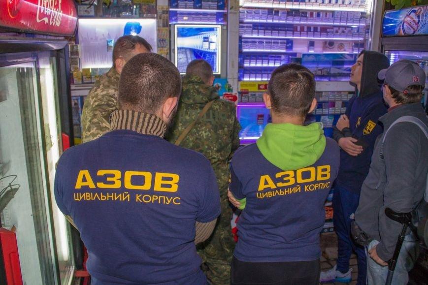 Гражданский корпус «Азов» пресекает незаконную продажу алкоголя в Мариуполе (ФОТО) (фото) - фото 1
