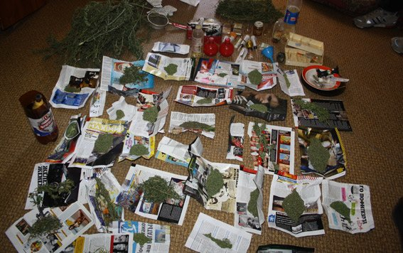 У кременчугского наркоторговца-рецидивиста милиция нашла 3 кг марихуаны (ФОТО) (фото) - фото 1