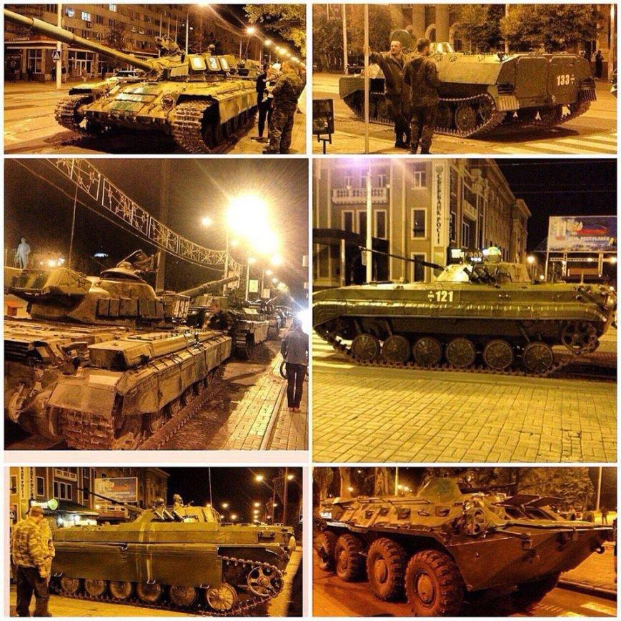 Центр Донецка был занят танками (ФОТО+ВИДЕО) (фото) - фото 1