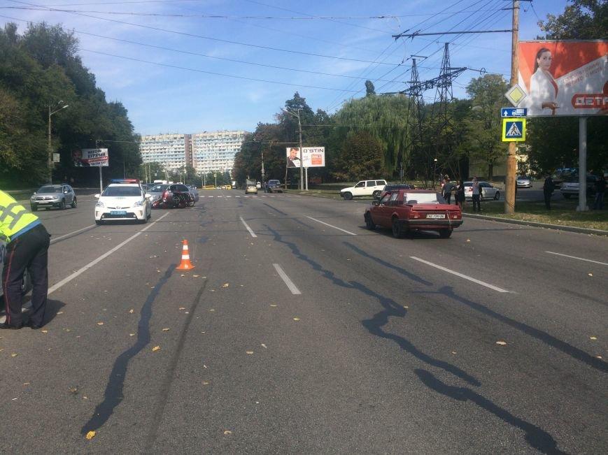 ДТП в Днепропетровске: «Mitsubishi Lancer» столкнулся с мотоциклом «Yamaha XVZ13T» (ФОТО), фото-2