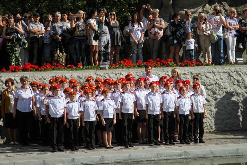 Волгоградские кадеты приняли присягу на Мамаевом Кургане, фото-3