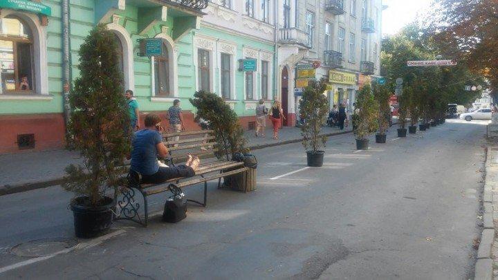 У Тернополі активісти поставили лавки просто посеред вулиці (фото) (фото) - фото 1