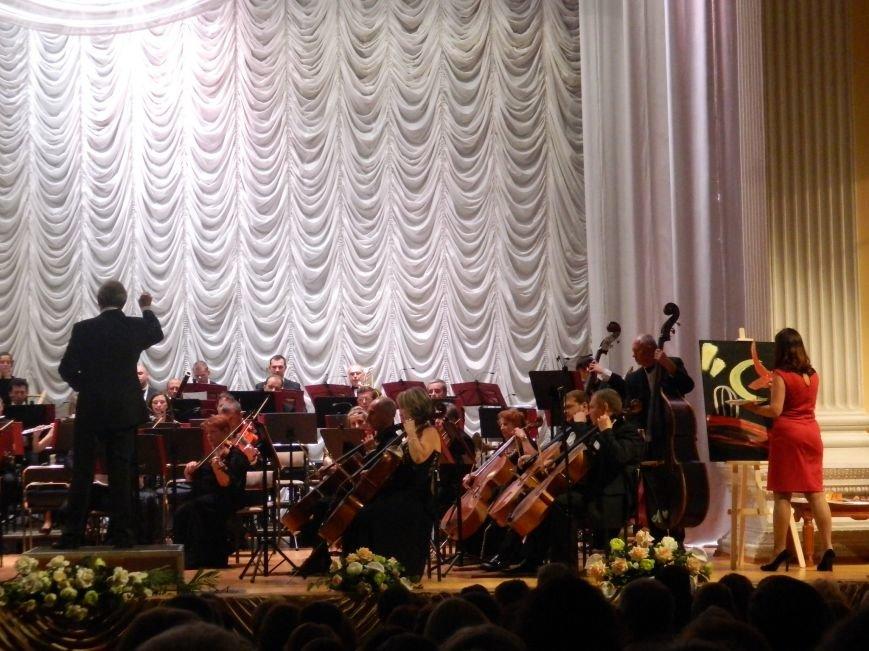 На открытии сезона в Запорожской филармонии презентовали белый рояль и нарисовали картину, - фоторепортаж (фото) - фото 13