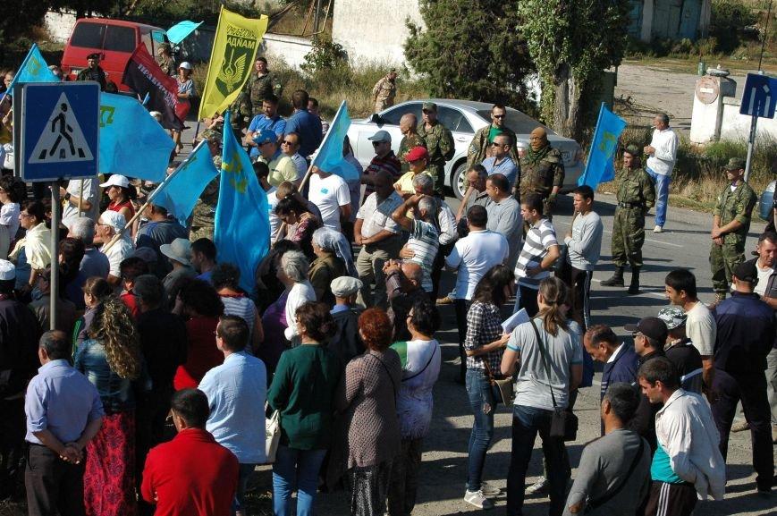 Украинские активисты заблокировали дорогу в Крым, - специальный фоторепортаж 061 из Чонгара, фото-5