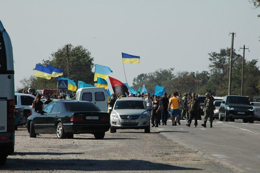 Украинские активисты заблокировали дорогу в Крым, - специальный фоторепортаж 061 из Чонгара, фото-2