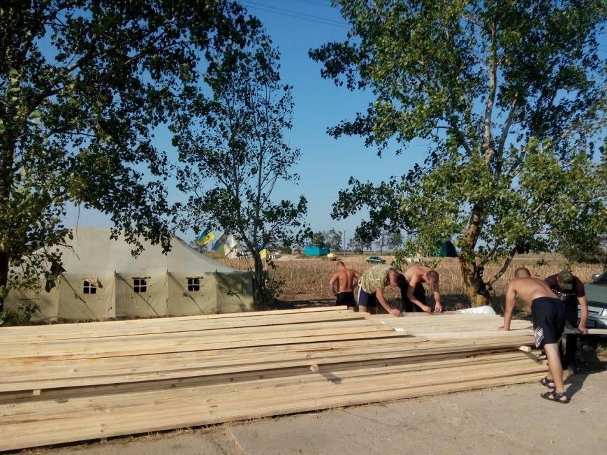Криворожане обустраивают блок-пост под Чаплинкой  и проводят тренировки (ФОТО) (фото) - фото 2