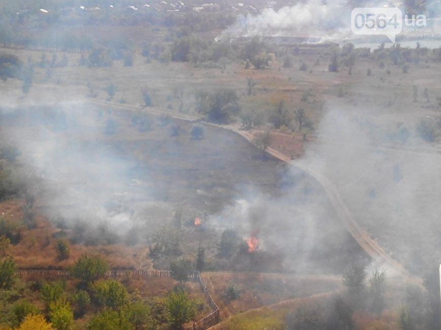 В Кривом Роге: горел Восточный, в ДТП пострадали сразу 4 автомобиля, а криворожан, блокирующих трассу на Крым, чуть не сбила «фура» (фото) - фото 1