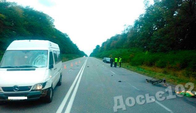 На Тернопільщині «Мерседес» насмерть збив велосипедиста (ФОТО) (фото) - фото 1