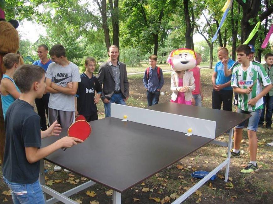 В сквере пос.Новодонецкое установлены 5 столов для пинг-понга (ФОТО), фото-5