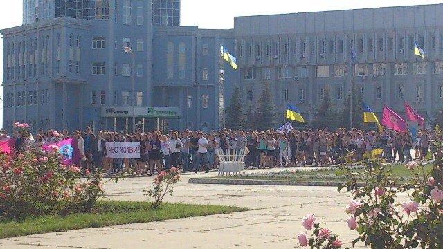 Студенты УАБД провели акцию перед сессией Сумского облсовета (ФОТО), фото-1