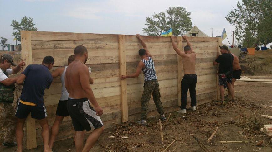 Криворожские активисты, участвующие в блокаде Крыма, проводят электричество к палаточному лагерю и готовятся к ротации (ФОТО), фото-9