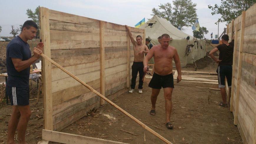 Криворожские активисты, участвующие в блокаде Крыма, проводят электричество к палаточному лагерю и готовятся к ротации (ФОТО), фото-6