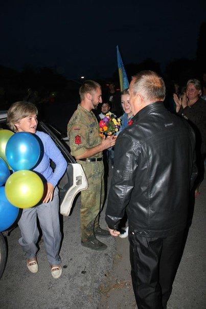 На Тернопільщині зустріли демобілізованих бійців АТО (фото) (фото) - фото 1
