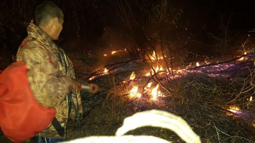Пожар в Серафимовичском районе местные жители тушили своими силами, фото-1