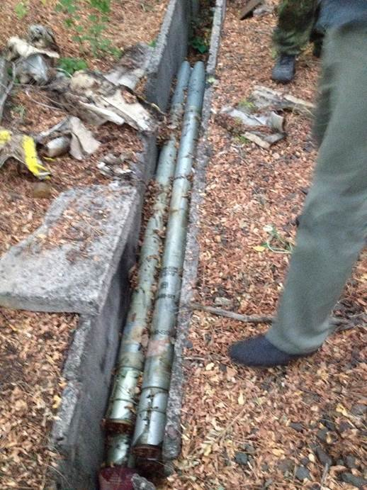 В Донецкой области найден тайник со снарядами для «Града» (фото) - фото 1