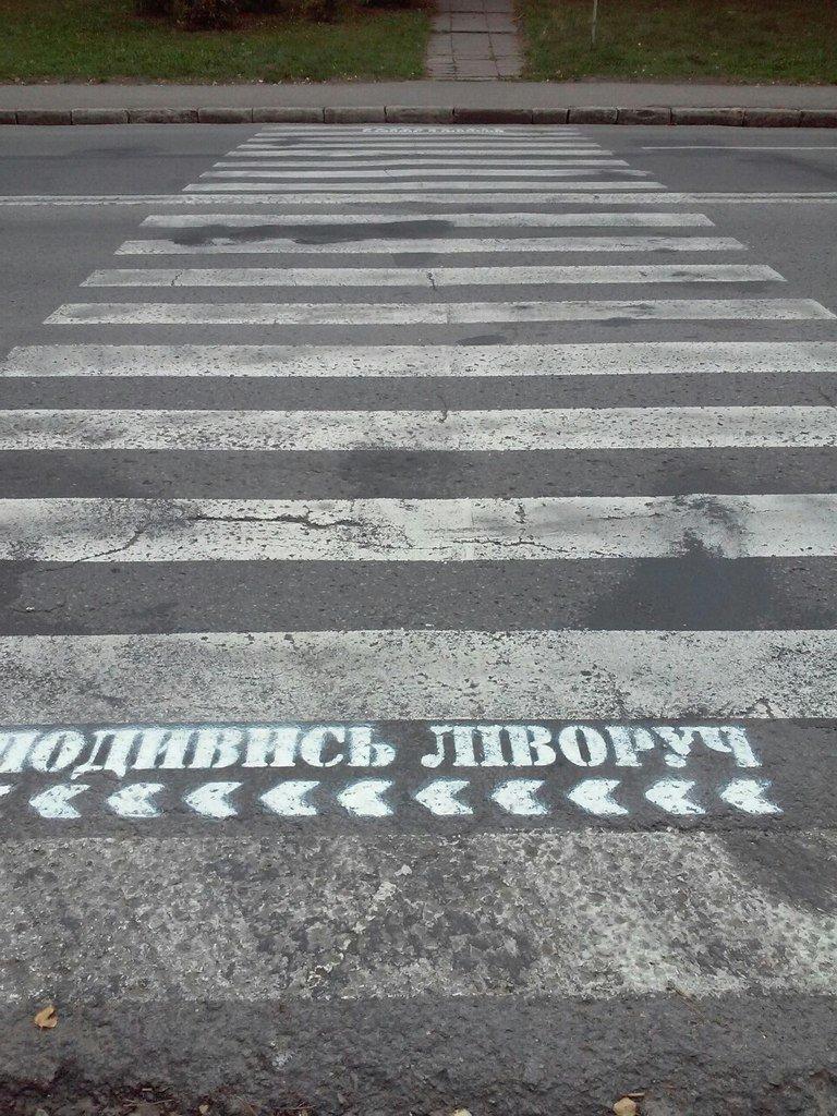 Тернополя на дорозі попереджають про обережність (фото) (фото) - фото 1
