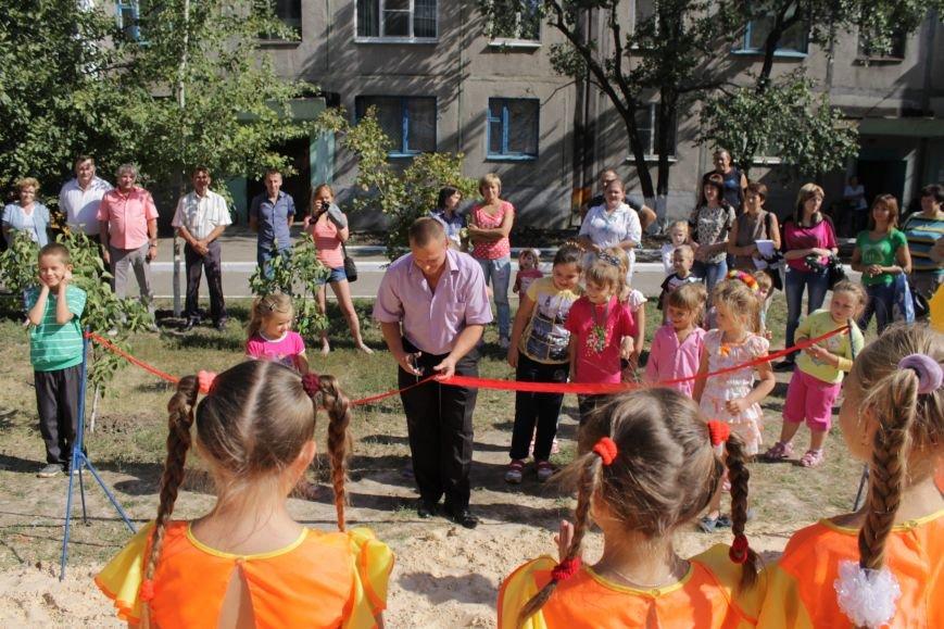 Добропольским детям подарили еще одну площадку (ФОТО), фото-1