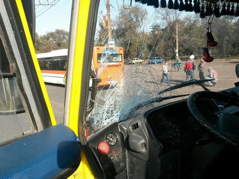 Водитель мариупольской маршрутки сбил насмерть человека на пешеходном переходе (ФОТО+ДОПОЛНЕНО) (фото) - фото 1