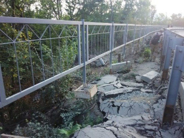 На ЮБК разваливается участок дороги, фото-2
