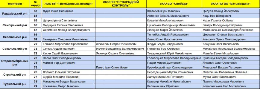 Зареєстровані кандидати в депутати Львівської облради. Повний список (фото) - фото 13