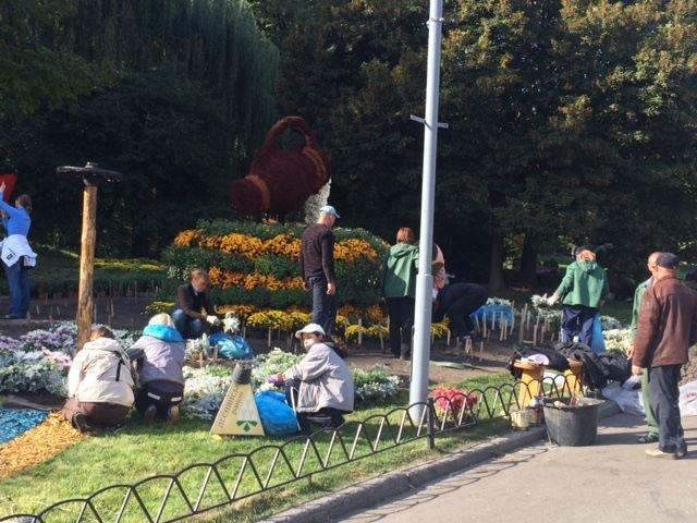 Певческое поле подготавливают к выставке хризантем (ФОТОФАКТ), фото-1