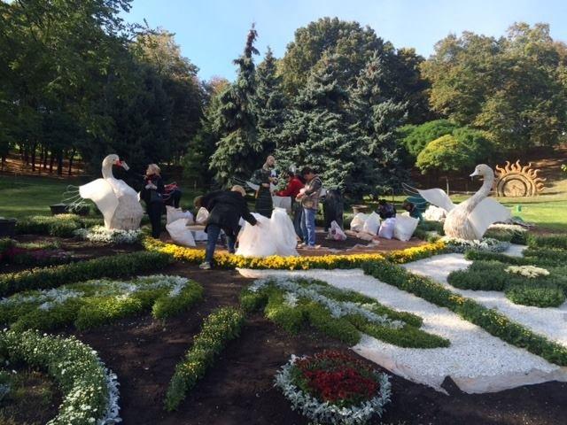 Певческое поле подготавливают к выставке хризантем (ФОТОФАКТ), фото-3