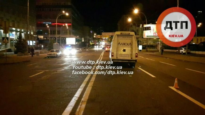 В Соломенском районе водитель микроавтобуса сбил пьяного пешехода (ФОТО), фото-1