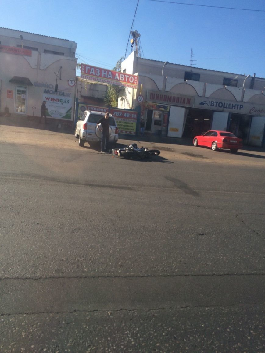 Одеская СТО опубликовала видео мотоциклетной аварии на Краснова (ФОТО, ВИДЕО) (фото) - фото 1