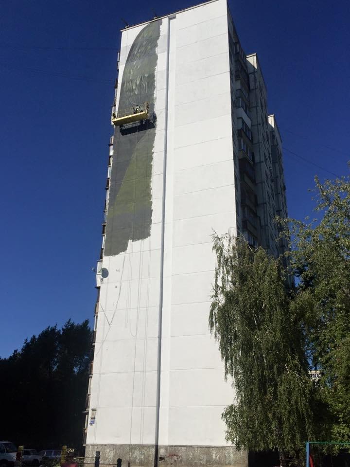 На Булаховского началось создание нового мурала (ФОТОФАКТ), фото-1