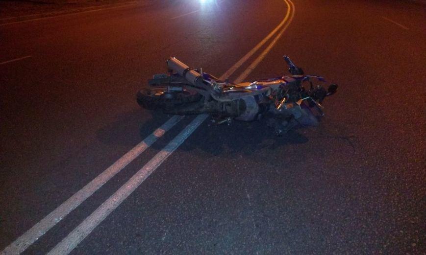 Днепропетровский мотоциклист чуть не снёс электроопору (ФОТО), фото-2