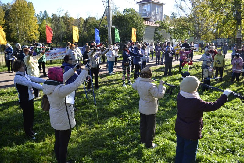 Энергично провели Всероссийский день ходьбы в городе Пушкине (фото) - фото 3