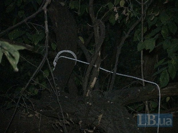 Возле Пейзажки нашли повешенный труп (ФОТО) (фото) - фото 1