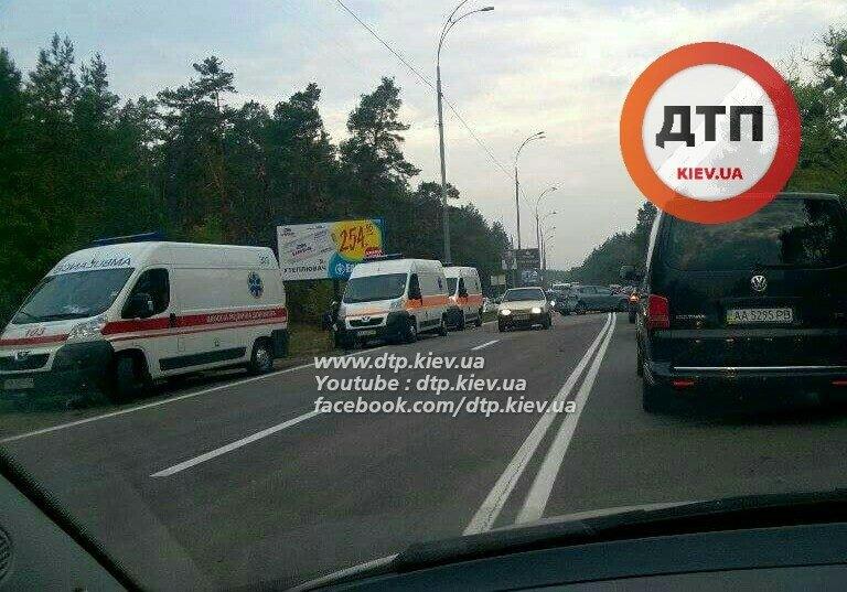 Под Киевом столкнулись три автомобиля, четверо пострадавших (ФОТО), фото-2