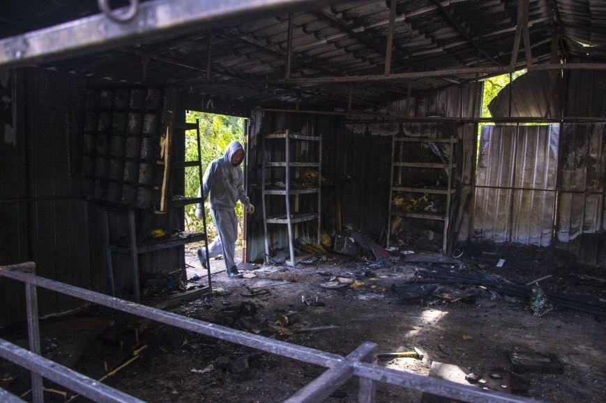 В парке Приднепровский сгорели детский павильон и тир (фото) - фото 1