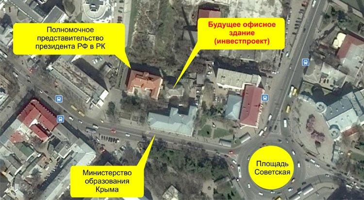 Совмин отдает в аренду застройщику 11 соток земли под недостроем в центре Симферополя для его реконструкции в офисное здание (ФОТО) (фото) - фото 1