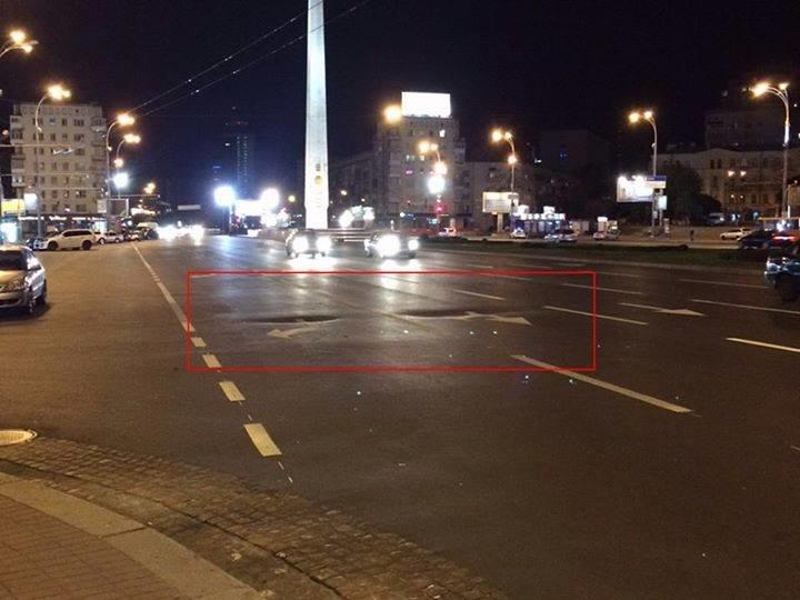 На пл. Победы просел новый асфальт (ФОТОФАКТ), фото-1