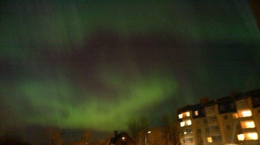 Поздно ночью 7 октября жители города Пушкина видели Северное Сияние., фото-1