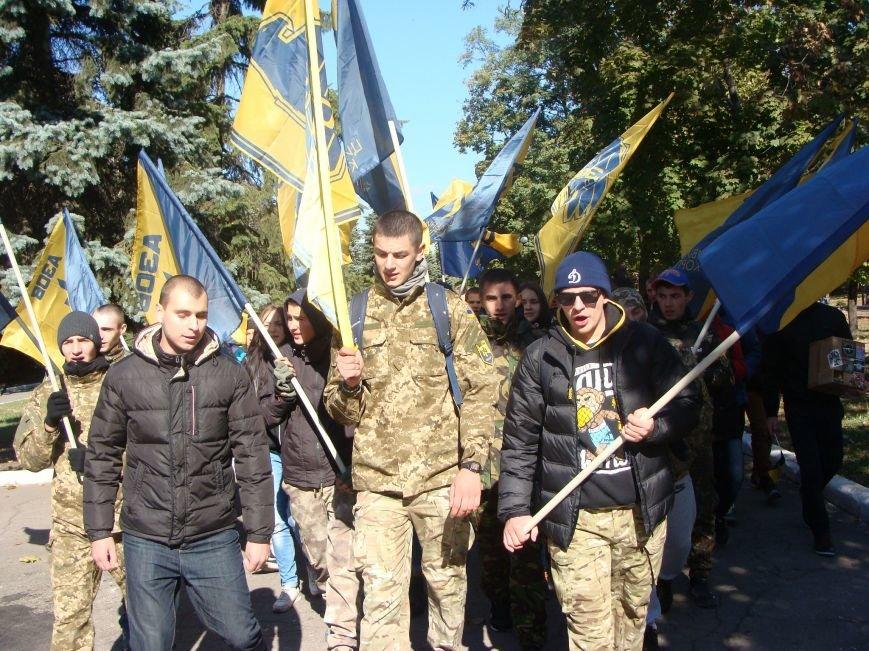 В Красноармейске состоялся патриотический марш в честь открытия центрального корпуса «АЗОВ» (фото) - фото 2