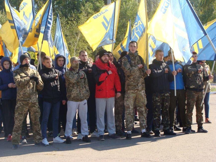 В Красноармейске состоялся патриотический марш в честь открытия центрального корпуса «АЗОВ» (фото) - фото 1