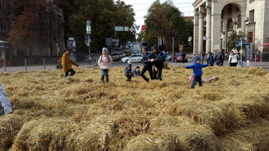 На Крещатике устроили традиционный сеновал (ФОТО) (фото) - фото 2