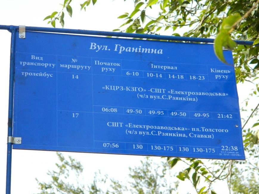табличка ул. Гранитная