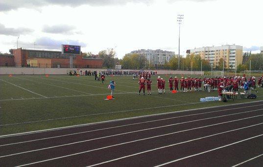За порядком на Пушкинском футбольном стадионе следили сотрудники МОП «Патриот» (фото) - фото 1
