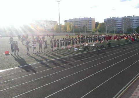 За порядком на Пушкинском футбольном стадионе следили сотрудники МОП «Патриот» (фото) - фото 2