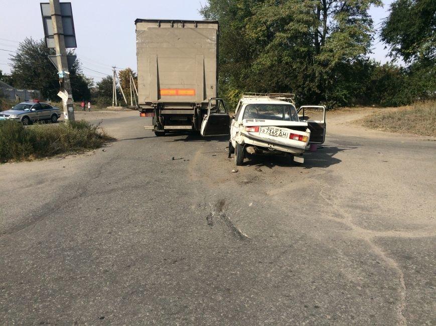 ДТП в Днепропетровске: столкнулись «ЗАЗ» и «Скания» (ФОТО), фото-1